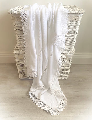 Bronte Luxury Blanket (White)