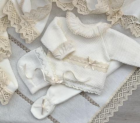 Blake luxury knitted 3 piece  (Cream)