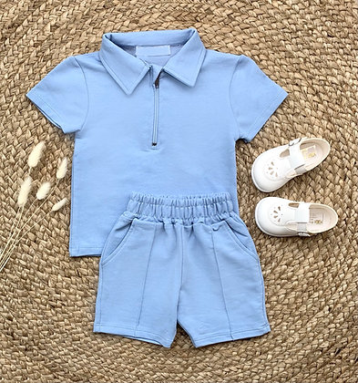 Roman Shirt and Short Set - Blue