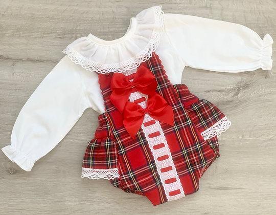 Ruby Red Tartan Set