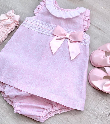 Paisley Dress and panties (Pink)