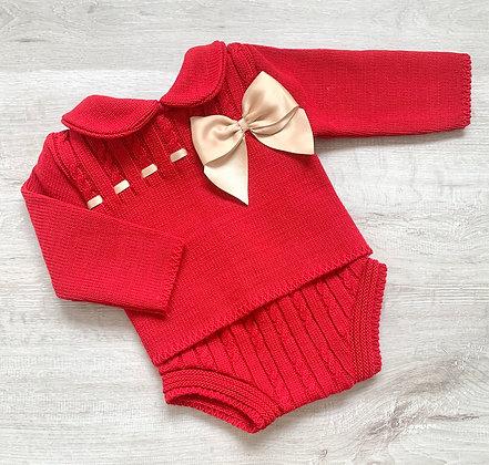 Berry Jam Pant Set (Red)