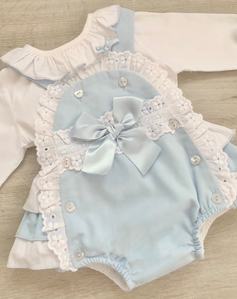 Baby Blue Romper and Blouse