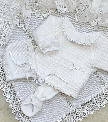 Blake knitted 3 piece  white