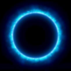 Blue-glow-glitter-circle-frame-with-boke
