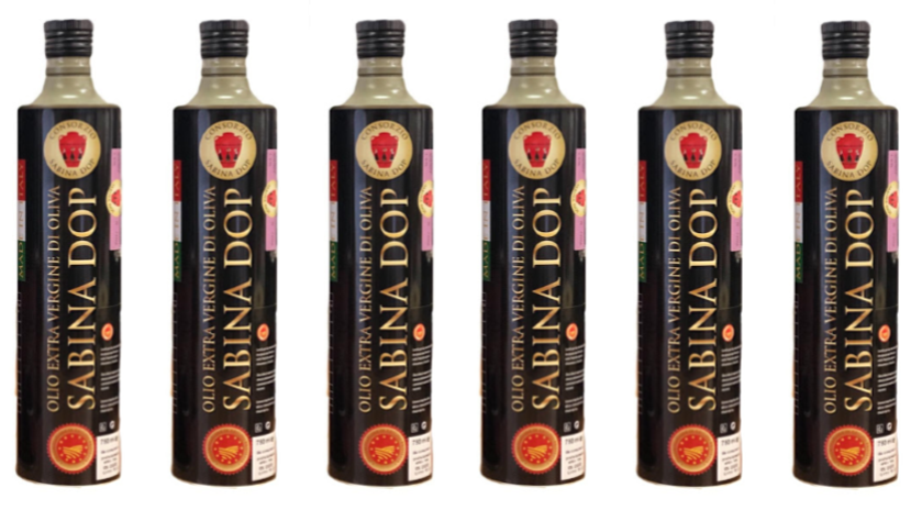 6 Bottiglie Olio Extravergine di Oliva Sabina DOP in Latta