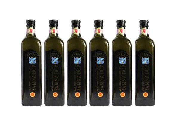 6 Bottiglie Olio Petrucci Extravergine di Oliva Sabina DOP