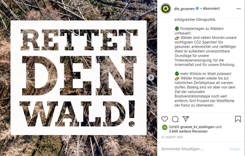 Post bei Instagram