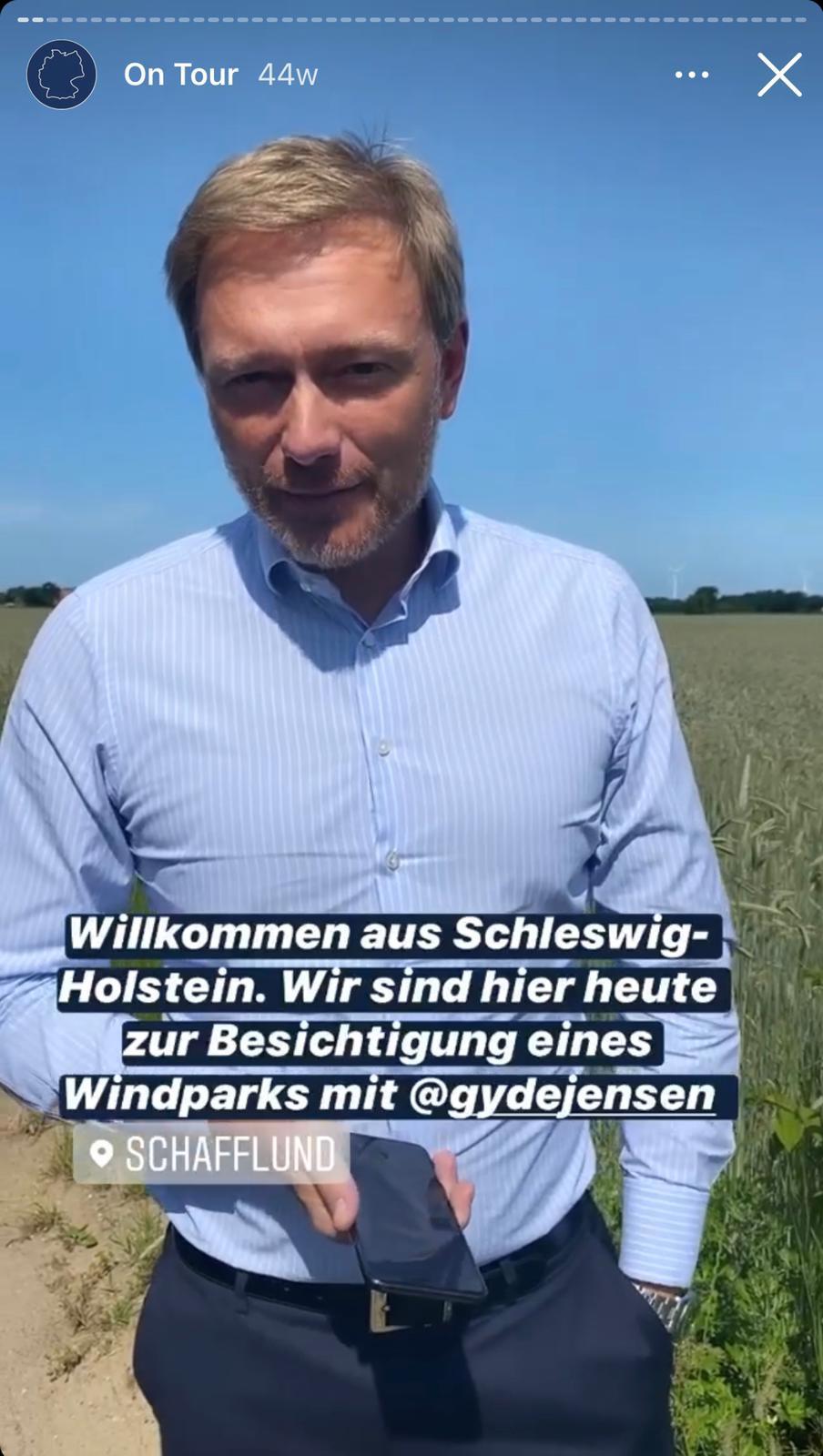 Christian Lindner in Schleswig-Holstein