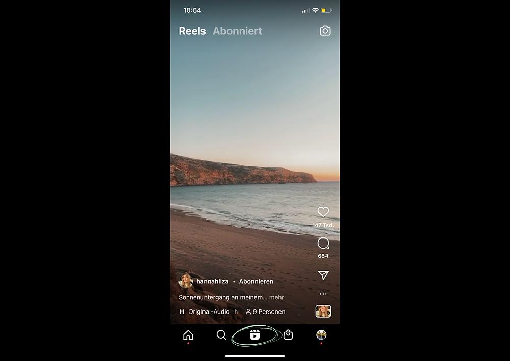 Instagram Reels Feed Screenshot