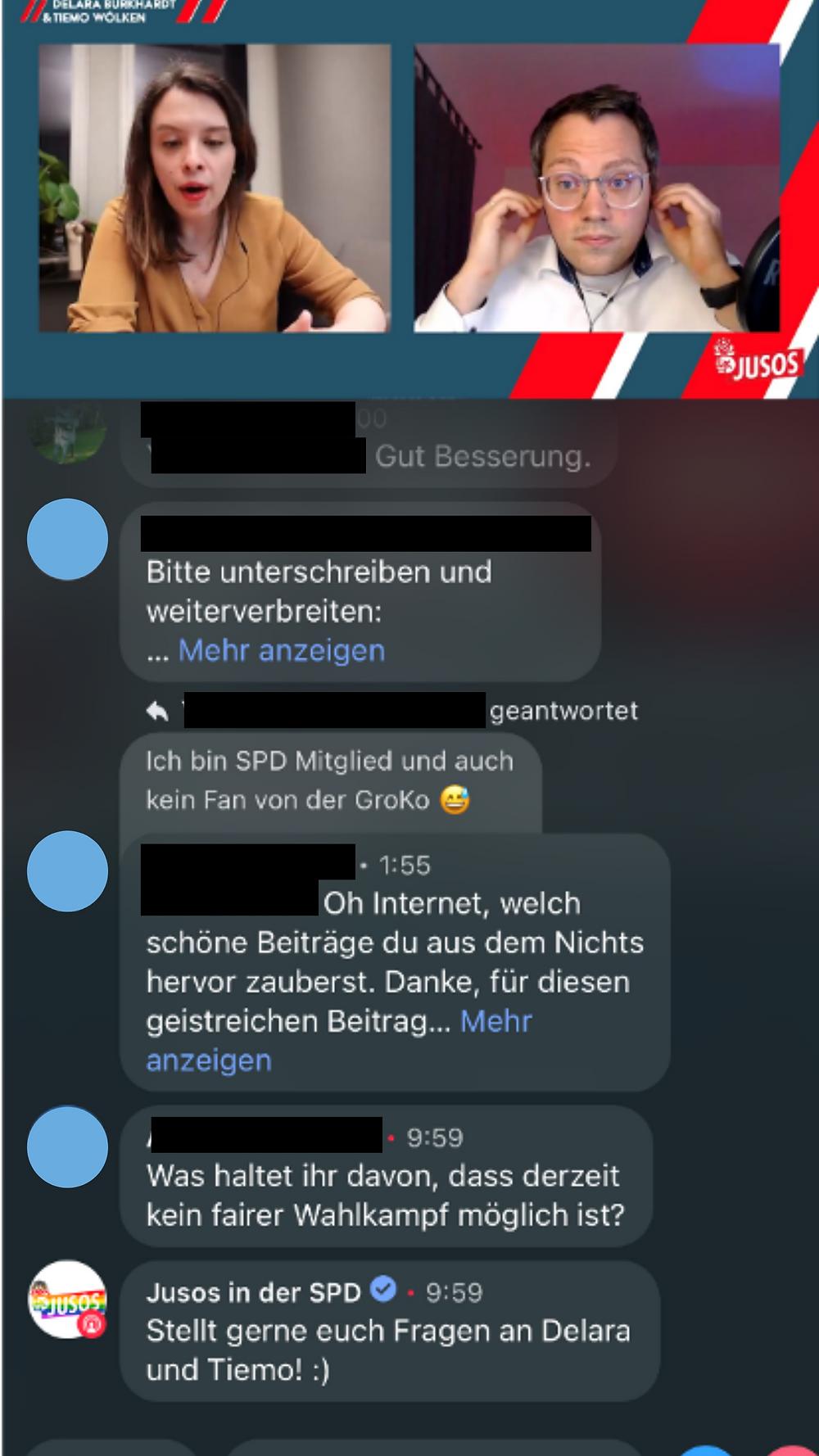 Instagram Twitter Wahlkampf live Format