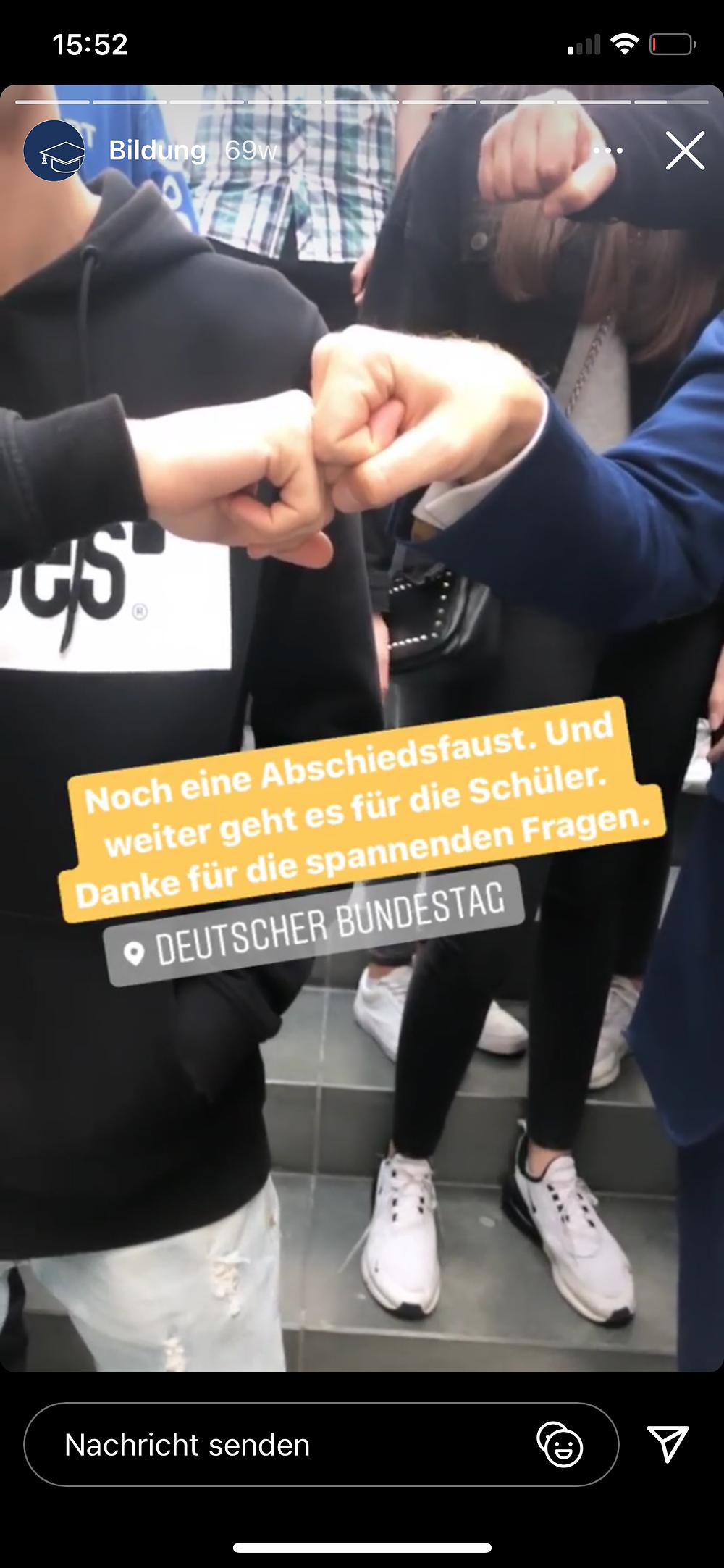 Screenshot von Christian Lindners Instagram Inhalten