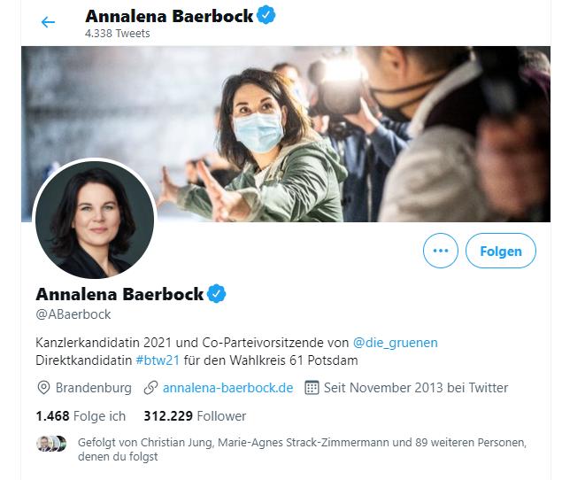 Annalena Baerbock auf twitter.