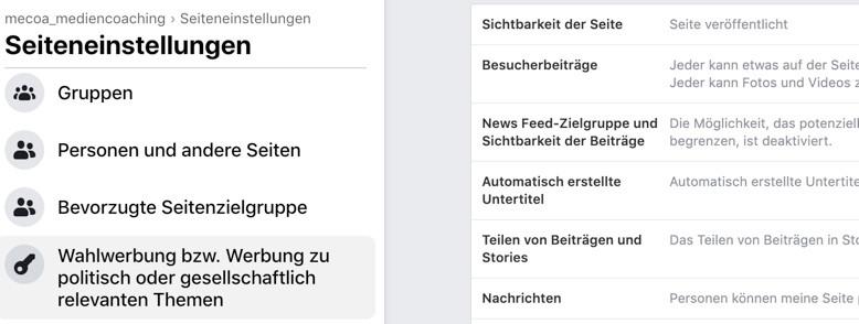 Facebook Anzeigenmanager Screenshot