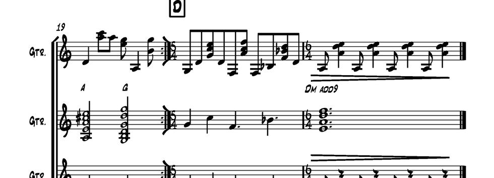 Classical Gas (Guitar Ensemble page 2)