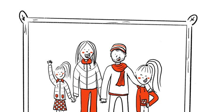 Lucie, Nele, Bruno en Juliette