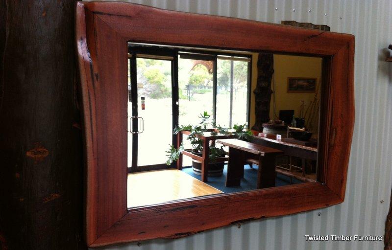 Natural Edge Jarrah Mirror