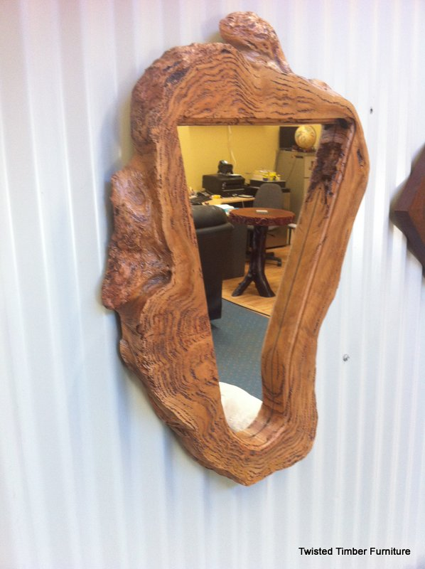 Marri burl mirror frame