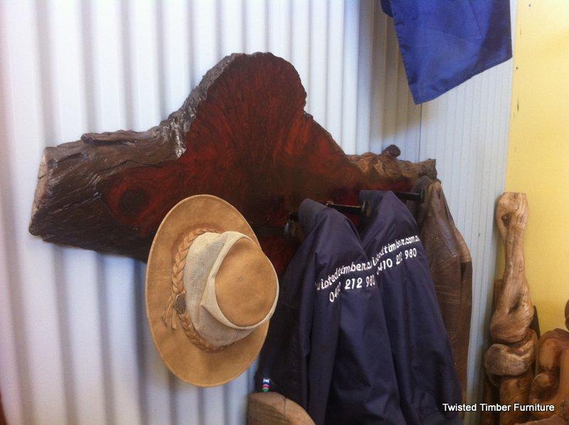 Jarrah Burl Coat Rack