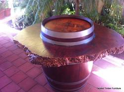 Barrel Burl Table