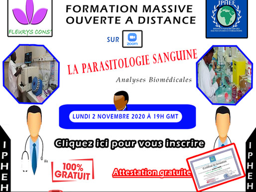 FORMATION GRATUITE EN PARASITOLOGIE MEDICALE - ANALYSES BIOMEDICALES