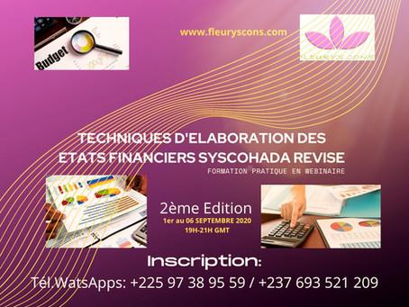 FORMATION PRATIQUE SUR LES TECHNIQUES D'ELABORATION DES ETATS FINANCIERS SYSCOHADA REVISE
