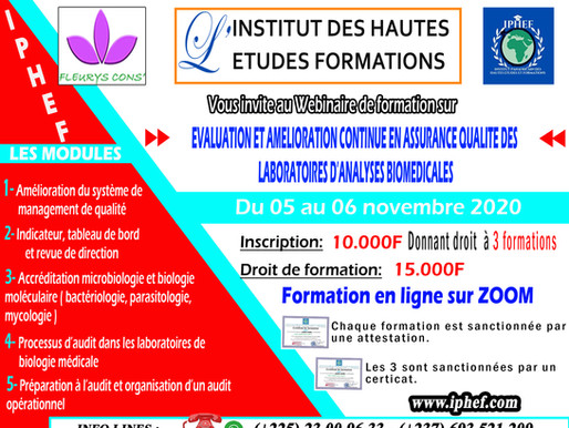 EVALUATION ET AMELIORATION CONTINUE DES LABORATOIRES D'ANALYSES BIOMEDICALES - ASSURANCE QUALITE