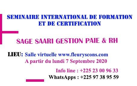 CERTIFICATION SAGE SAARI i7 GESTION PAIE & RH