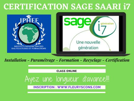 PROGRAMME DE CERTIFICATION SAGE SAARI i7