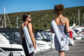 Blue Water Yoga Mat Bag