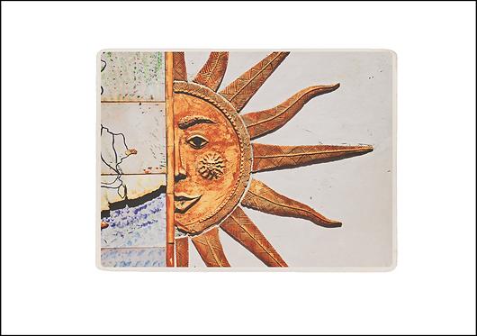 Happy Sun Face - A3 Fine Art Print
