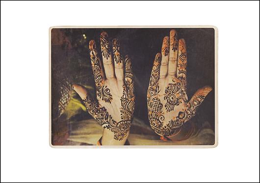 Mehndi Hands - A3 Fine Art Print