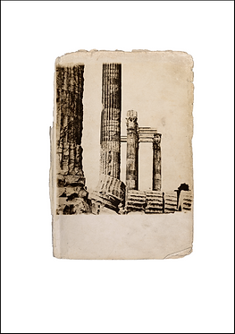 Greek Columns - A3 Fine Art Print