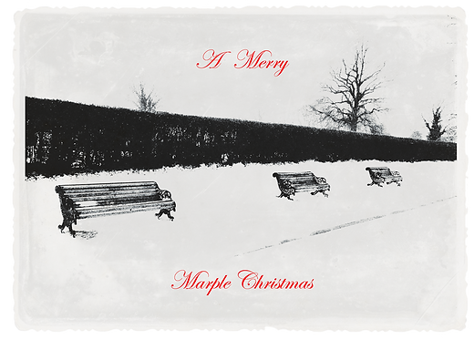 Marple Xmas Collection - Benches in the Snow