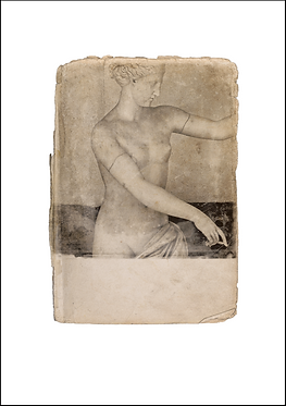 Nude Female Marble Figure - A3 Fine Art Print