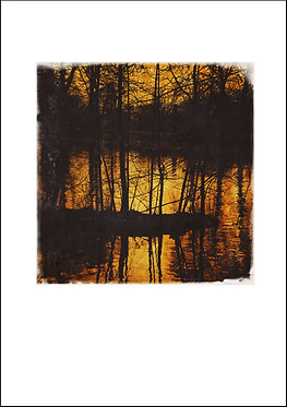 Sunset on the Canal Waters - A3 Fine Art Print