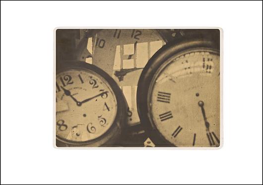 Clocks - A3 Fine Art Print