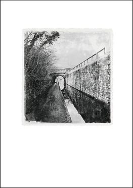 Canal Walkway and Bridge - A3 Fine Art Print