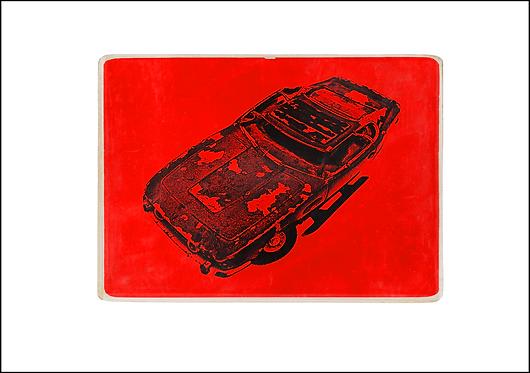 Crashed Car - A3 Fine Art Print
