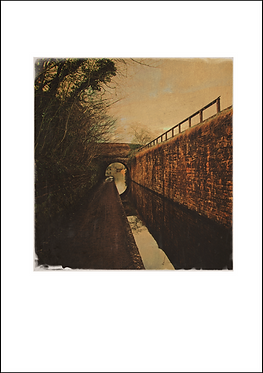 Canal Walkway & Bridge - A3 Fine Art Print