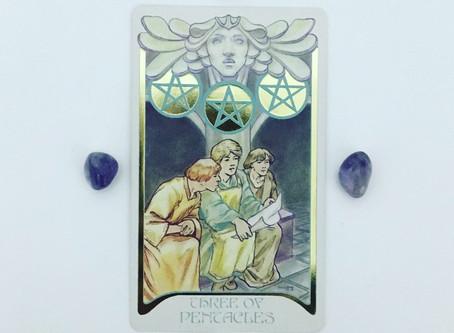 Mindful May Tarot: 3 of Pentacles