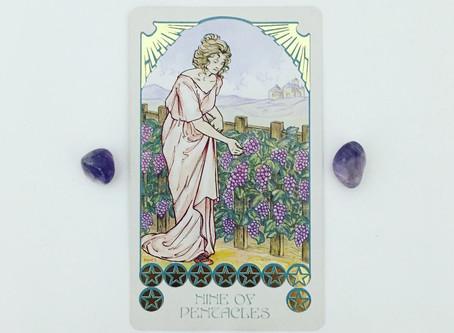 Mindful May Tarot: 9 of Pentacles