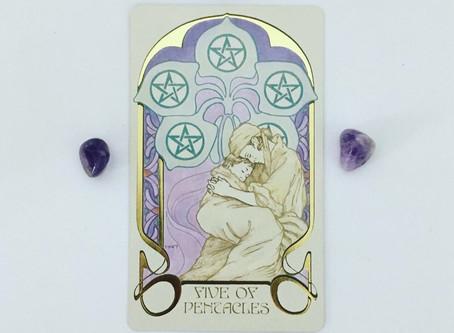 Mindful May Tarot: 5 of Pentacles