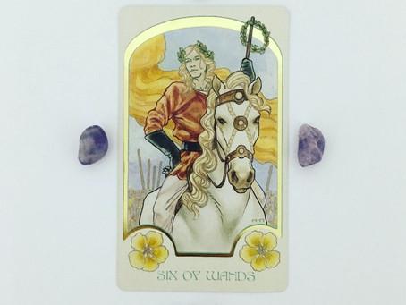 Mindful May Tarot: 6 of Wands