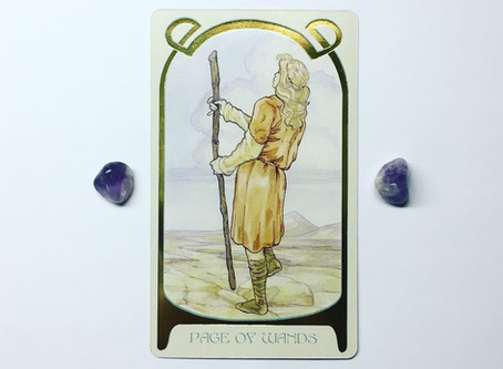 Mindful May Tarot: Page of Wands