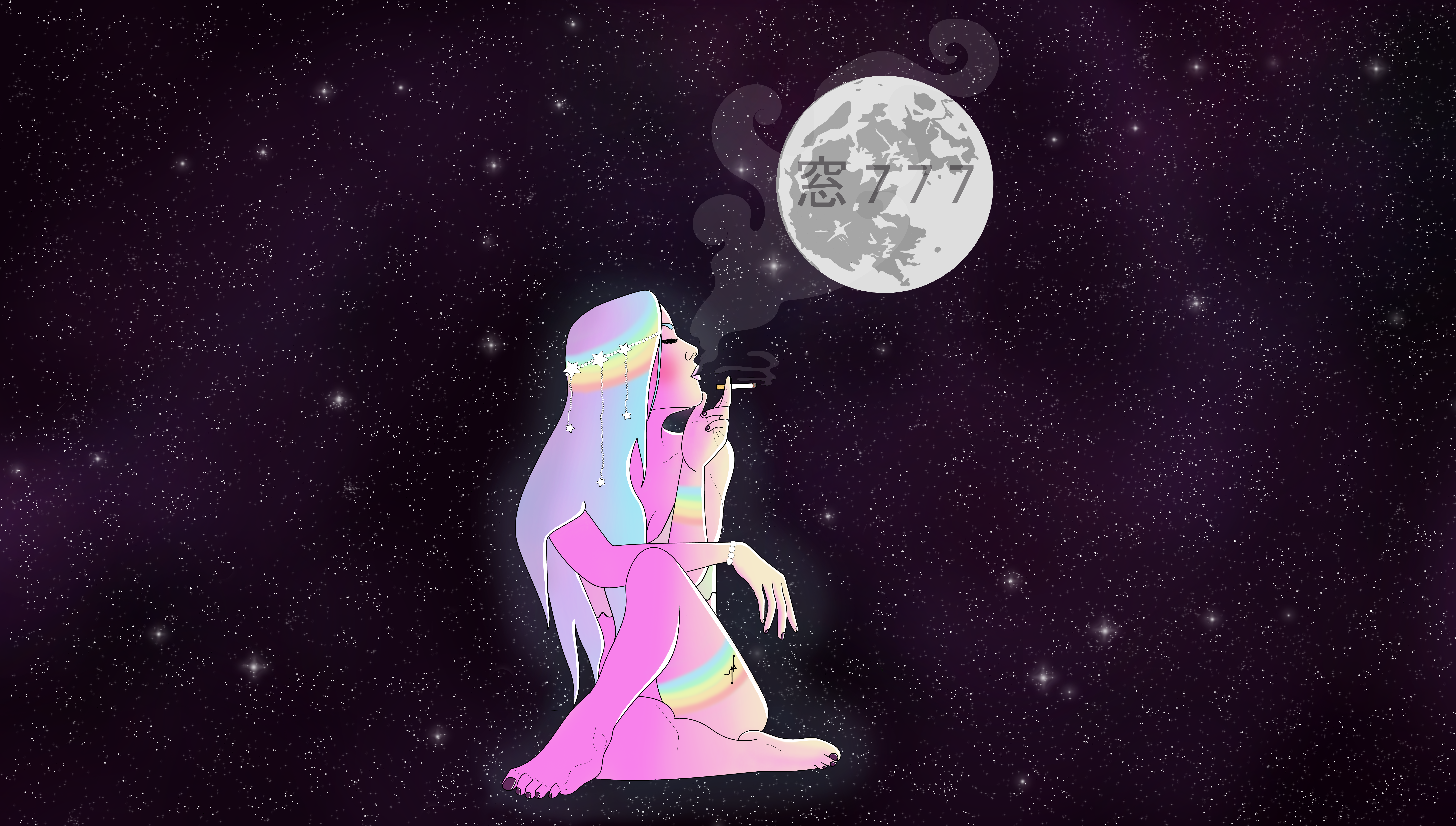 smoking in the moon wallpaper.png