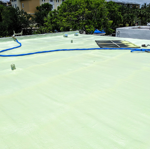 3lb roofing foam on flat roof