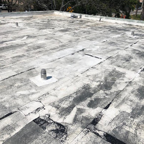 before picture of roof insulation