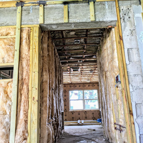 spray foam in new construction with fibe