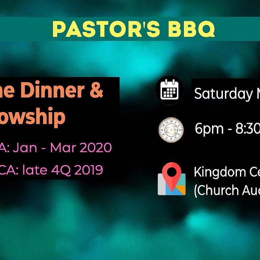 Pastor's BBQ Welcome Dinner & Fellowship